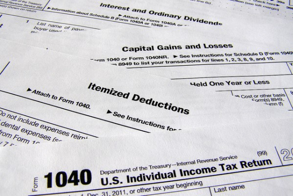 tax deduction paperwork
